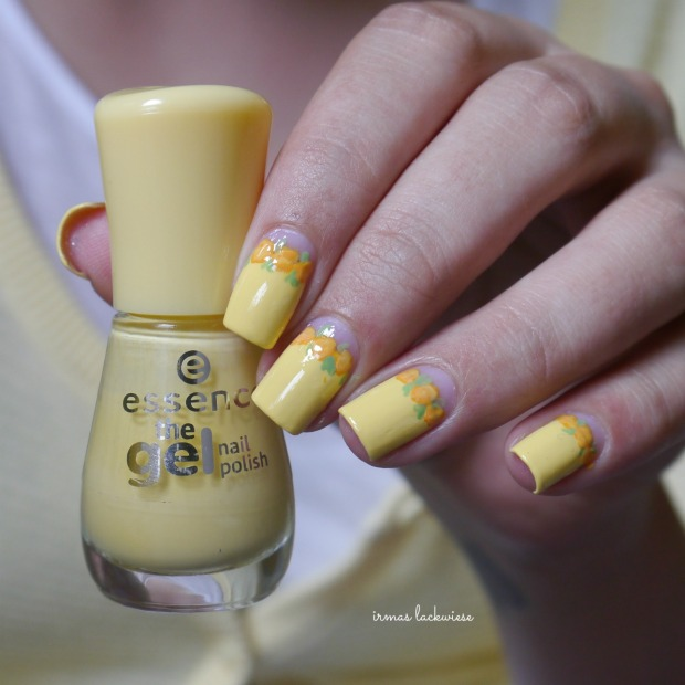 yellow roses nailart (16)