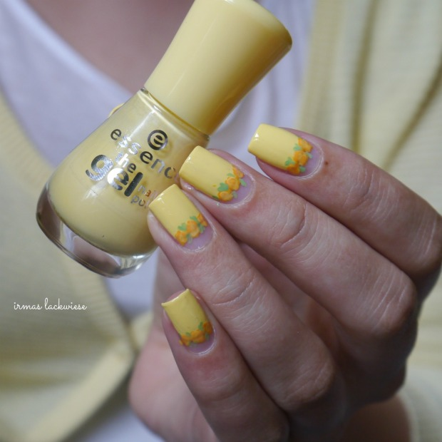 yellow roses nailart (20)
