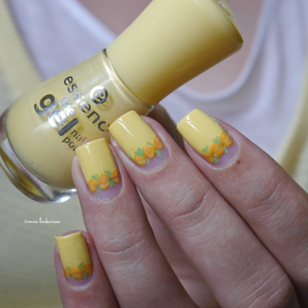 yellow roses nailart (22)