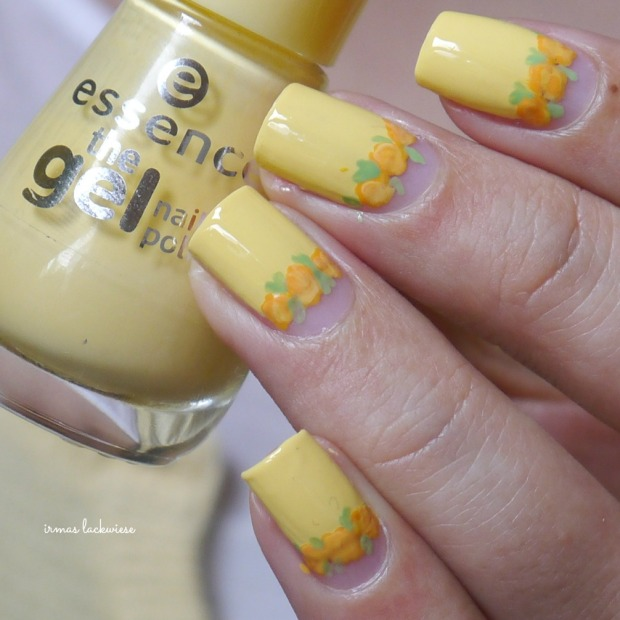 yellow roses nailart (23)