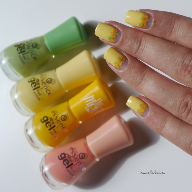yellow roses nailart (26)