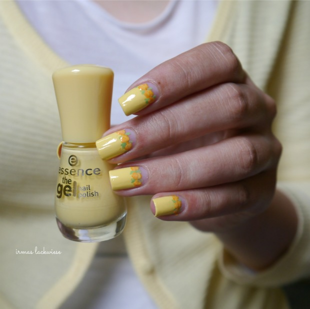 yellow roses nailart (3)