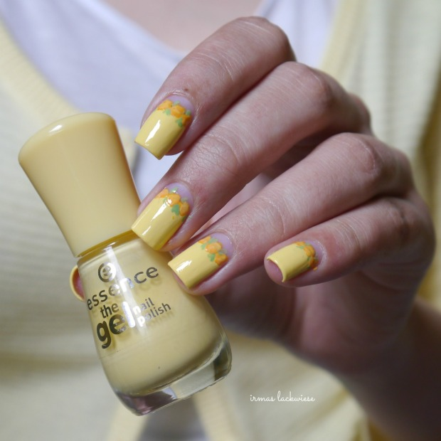 yellow roses nailart (4)