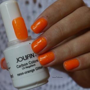 jolifin neon orange glitter (6)