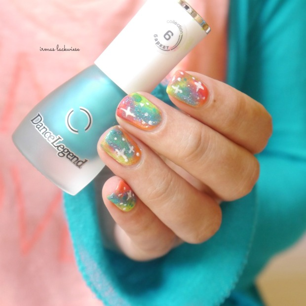 jolifin neon orange glitter + neon galaxy nails(13)
