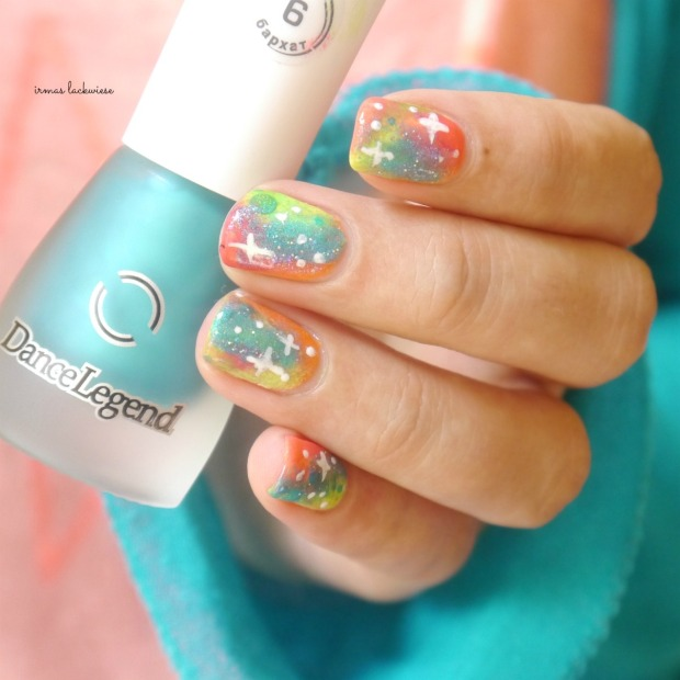 jolifin neon orange glitter + neon galaxy nails(14)