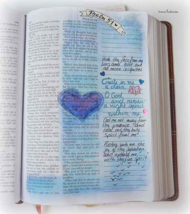 psalm 51 create in me a clean heart bible journaling (1)