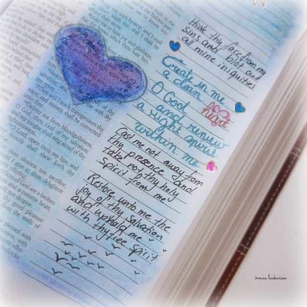 psalm 51 create in me a clean heart bible journaling (2)
