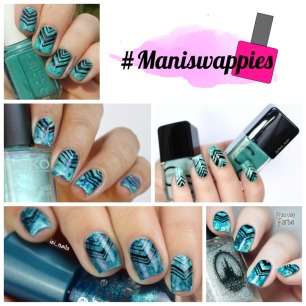 rdel young mint myself and i + maniswappies turquoise marble nails (1)