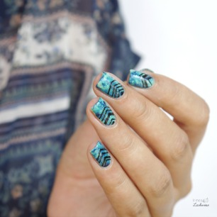 rdel young mint myself and i + maniswappies turquoise marble nails (11)