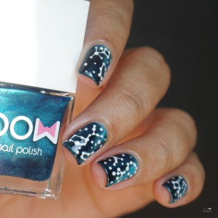 bow sirens + star constellation nailart (10)