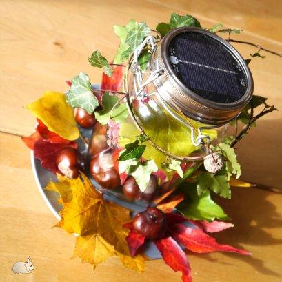 hygge (20) sonnenglas mit herbstdeko