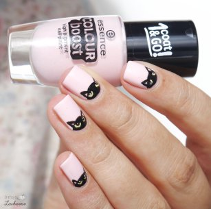 essence instant friendship + cat nailart (8)