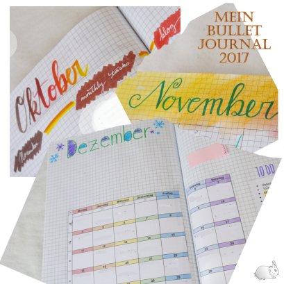 bullet journal october november december Collage