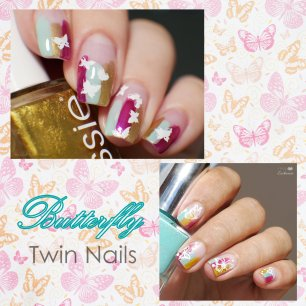 butterfly Twin Nails