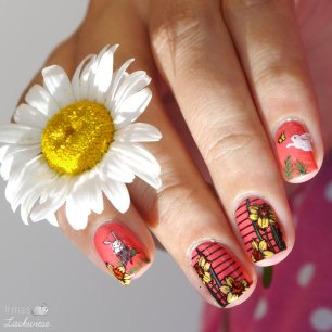 flower and bunny reverse stamping (2)