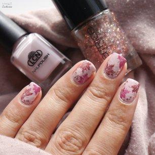 lcn creme pink + fall glitter nailart (8)